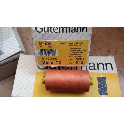 Spoletta filato Gutermann Tilolo No 70 MARA colore arancio chiaro 612 1412