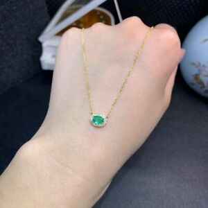 1-20-Ct-Oval-Emerald-Pendant-Necklace-With-18-034-Chain-In-14k-Yellow-Gold-Over