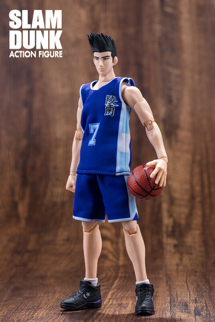 Dasin Model Slam Dunk Action-Figur Ryonan Akira Sendoh Blau Uniform Neu
