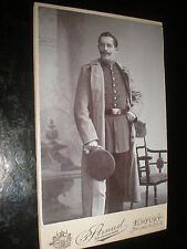 Cdv old photograph soldier moustache cap at Erfurt Germany c1900s