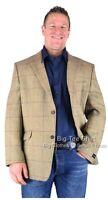 Big Mens Dk Beige Hugo James Harris Tweed Jacket 48 50 52 54 56 58 60 62 64 66