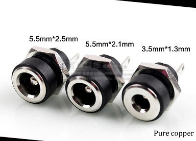 1pcs Taiwan pure copper silver plated DC socket  5.5*2.1/5.5*2.5/3.5*1.3mm L4-26