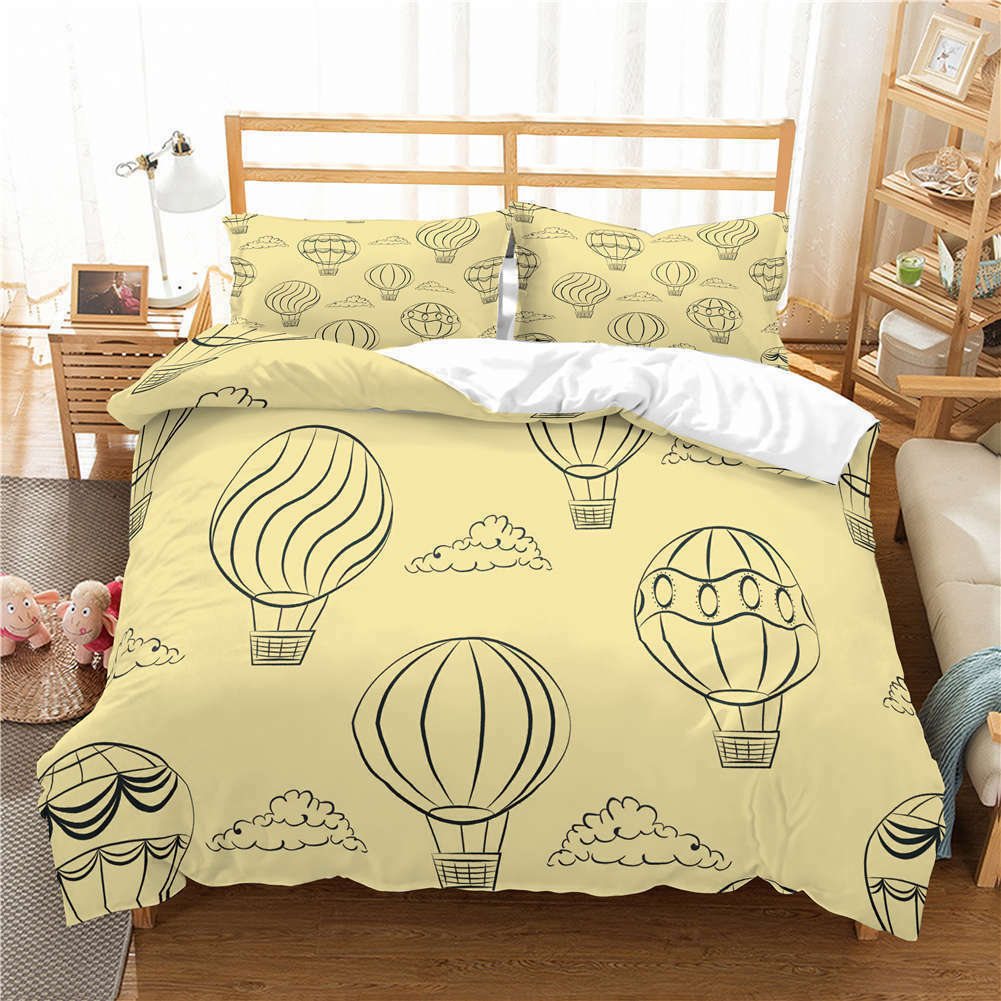 Comic Nice Balloon 3D Quilt Duvet Doona Cover Set Single Double Queen King Print