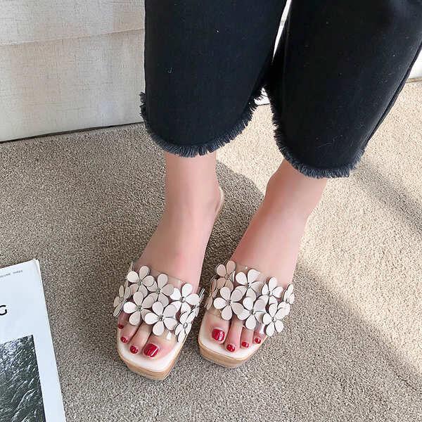 Sandalen elegant holzschuhe keilabsätze hausschuhe 9 weiß weiß weiß komfortabel simil c0dc86