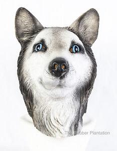 sibirischer husky maske hund latex tier kost m hunde halloween malamute wolf ebay. Black Bedroom Furniture Sets. Home Design Ideas