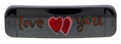 "Magnetic Hematite Id Bars /""Love You/"" Idb04"