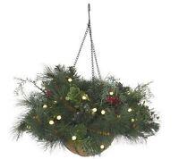 Bethlehem Lights Batt Op Pre-lit Indoor Outdoor Hanging Basket W/ Timer H10261
