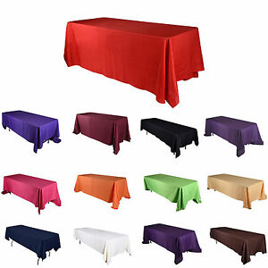 """TulleShop 90"""" Inch x 156 """" Rectangular Polyester Tablecloths Cover Wedding Party"""