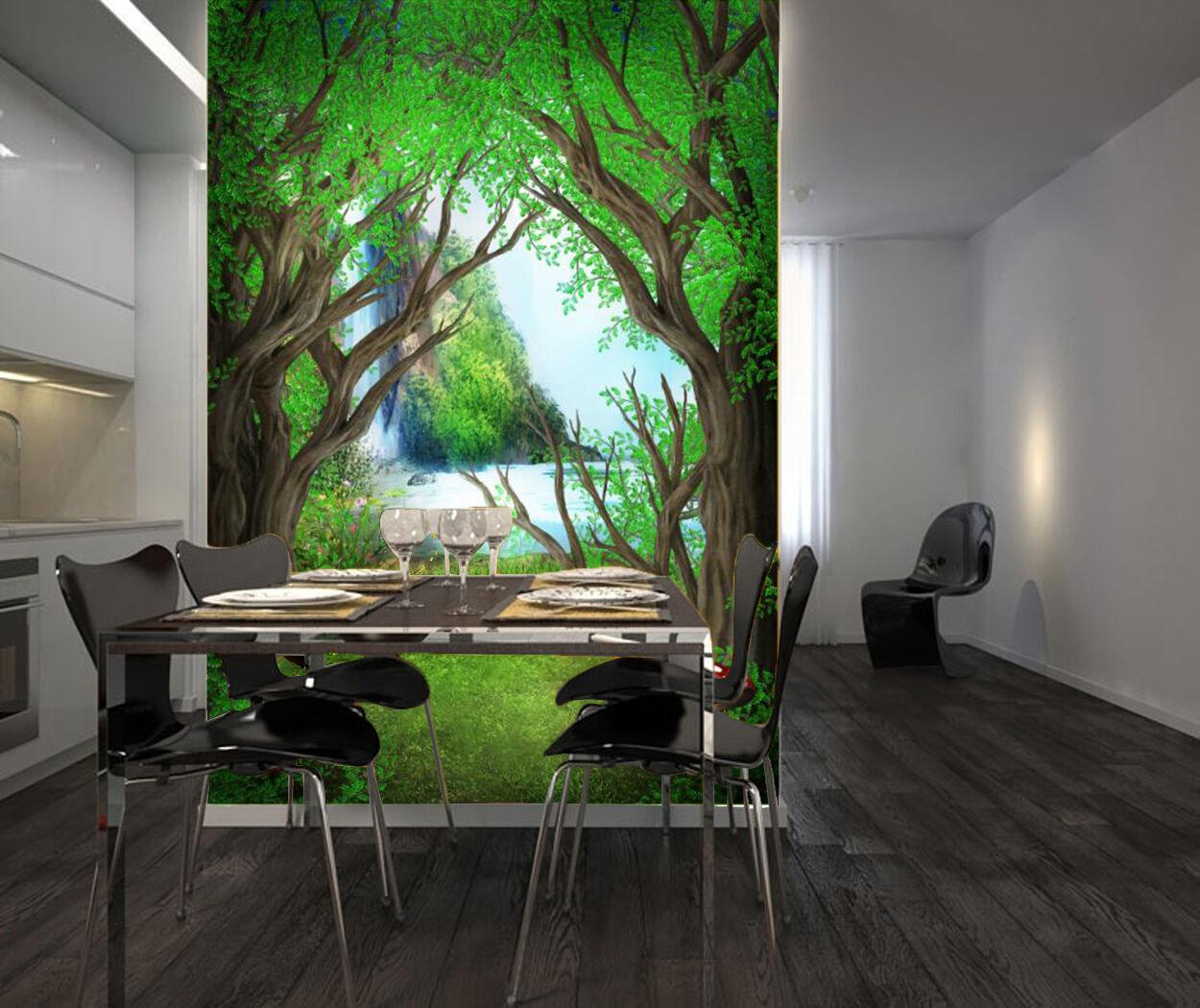 3D Pretty Forest 703 WallPaper Murals Wall Print Decal Wall Deco AJ WALLPAPER
