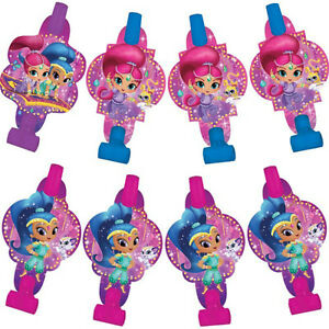 Details About SHIMMER AND SHINE BLOWOUTS 8 Birthday Party Supplies Favors Nickelodeon Pink