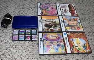 Original-Nintendo-DS-NTR-001-Cobalt-Blue-Console-Lot-w-14-Games-System-Bundle