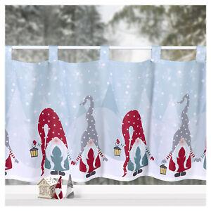 Scheibengardine Weihnachten Deko Gardine Wichtel Fensterdekoration Advent Typ651
