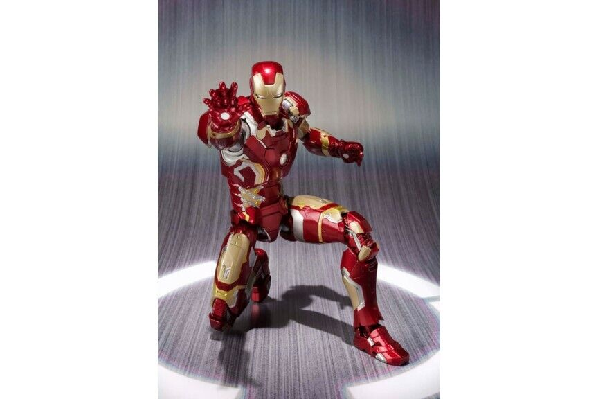 S.H FIGUARTS IRON MAN MARK 43 Marvel Avengers Age of Ultron Figura Giocattolo SENZA SCATOLA