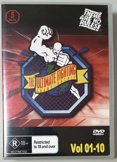 The Ultimate Fighting Championship UFC (Vol 01-10 / 5 Discs) DVD GREAT condition