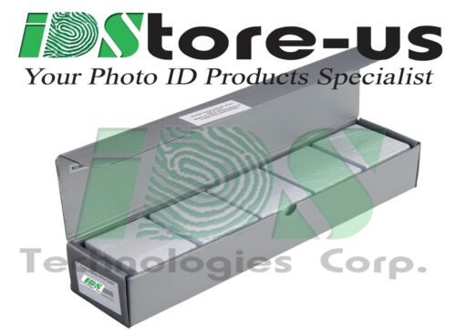 Evolis R3011 YMCKO Color Ribbon /& 500 Blank White PVC Cards Bundle