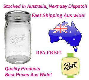 6-x-Ball-Mason-Wide-Mouth-Quart-Jars-Bottles-1-Litre-and-Lid-BPA-FREE