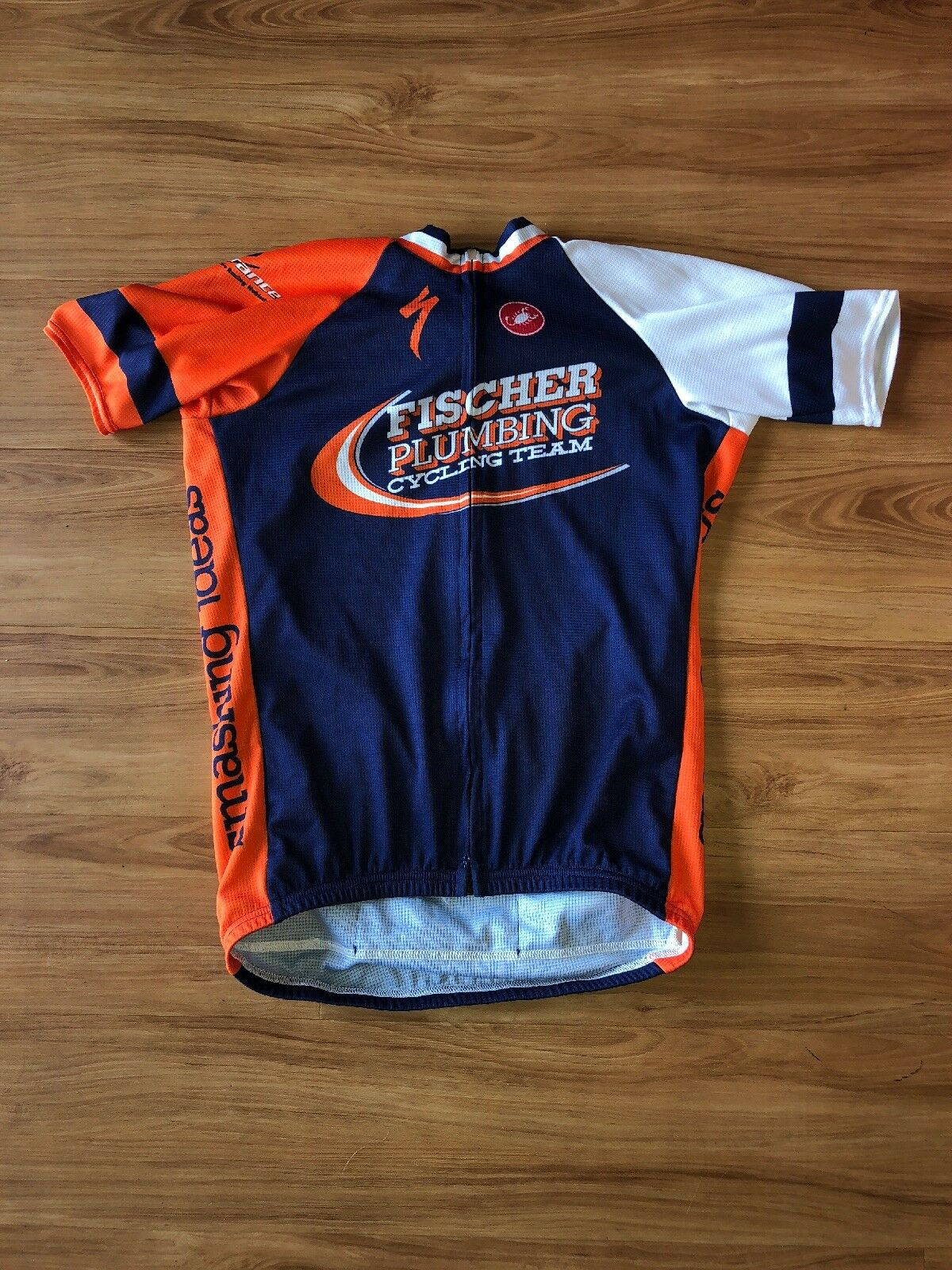 Castelli Specialized Mens Cycling Jersey Large Fischer Plumbing Cycling Team