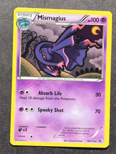 Mismagius 58//113 Rare Pokemon Card