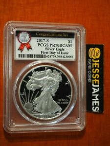 2017-S-PROOF-SILVER-EAGLE-PCGS-PR70-DCAM-FIRST-DAY-OF-ISSUE-CONGRATULATIONS-SET