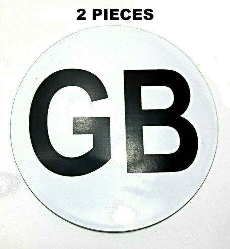 2 PCS PK GB SIGN FULLY MAGNETIC STICKER TRAVEL ABROAD PLATE BADGE CAR LORRY VAN