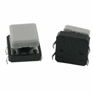 5pcs-12-x-12-x-9mm-Momentary-Tact-Tactile-Push-Button-Switch-4-Pin-w-Square-Cap