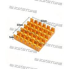 5pcs 22x22x5mm HEAT SINK ALUMINUM for memory CHIP CPU VIDEO DISSIPATORE ALETTE