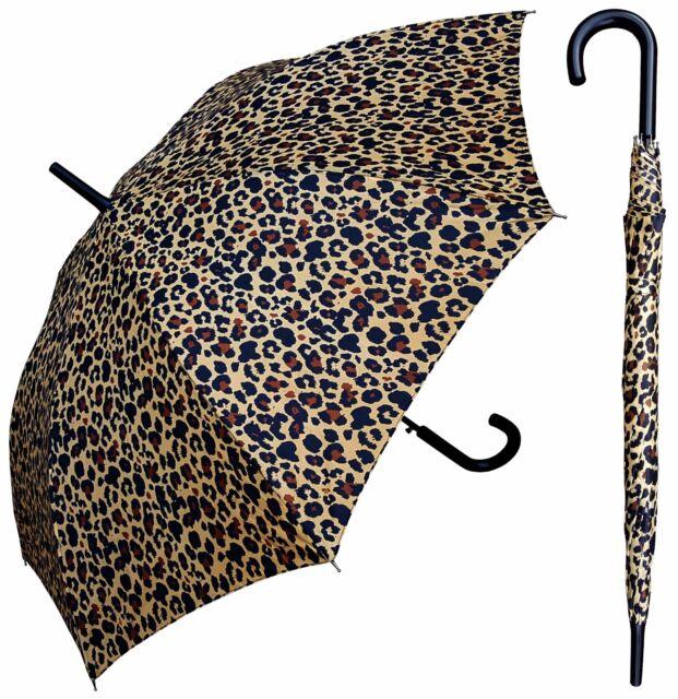 """RainStoppers Rain//Sun UV Fashion 48/"""" Arc Zebra Print Auto-Open Umbrella"""