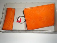 Mundi Floral Mini Wallet & Lipstick Case,orange
