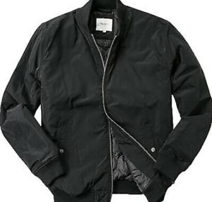 PEPE-Jeans-araton-Bomber-Jacke-Herren-Schwarz-Groesse-UK-M-ref98