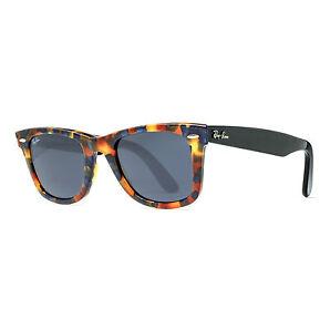 Ray Ban Rb 2140 1158/r5 50mm Brown Blue Fleck Tortoise Black Sunglasses