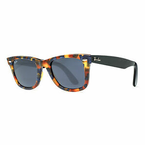 Ray Ban Rb 2140 1158/r5 50mm Brown Blue Fleck Tortoise Black Sunglasses
