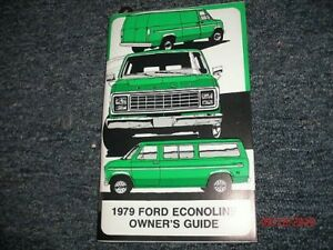 ford econoline genuine ford original owners manual ebay