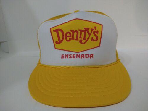 Vintage Denny's Restaurant Snapback Yellow mesh Ha