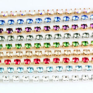 Genuine-SWAROVSKI-27004-Round-Cupchains-with-1088-Crystals