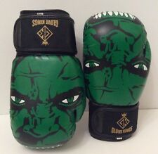 GK Incredible Hulk Boxing Gloves Muay Thai K1 MMA UFC Leather 12oz 14oz and 16oz