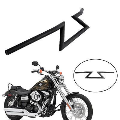 OSLAMP 1 Motorcycle Handlebar Z Drag Bar Black For Yamaha Suzuki Honda Kawasaki Harley Triumph Chopper Bobber