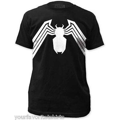 Venom Suit Symbol Costume Spider-Man Marvel Comics Licensed Adult T Shirt