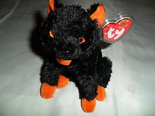 "NEW TY BEANIE BABIE HTF 2001 HALLOWEEN  BLACK CAT  ""FRAIDY""   MWMT"