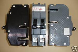ZINSCO SYLVANIA T/&B CHALLENGER Q2100  100 AMP 2 POLE CIRCUIT BREAKER THICK
