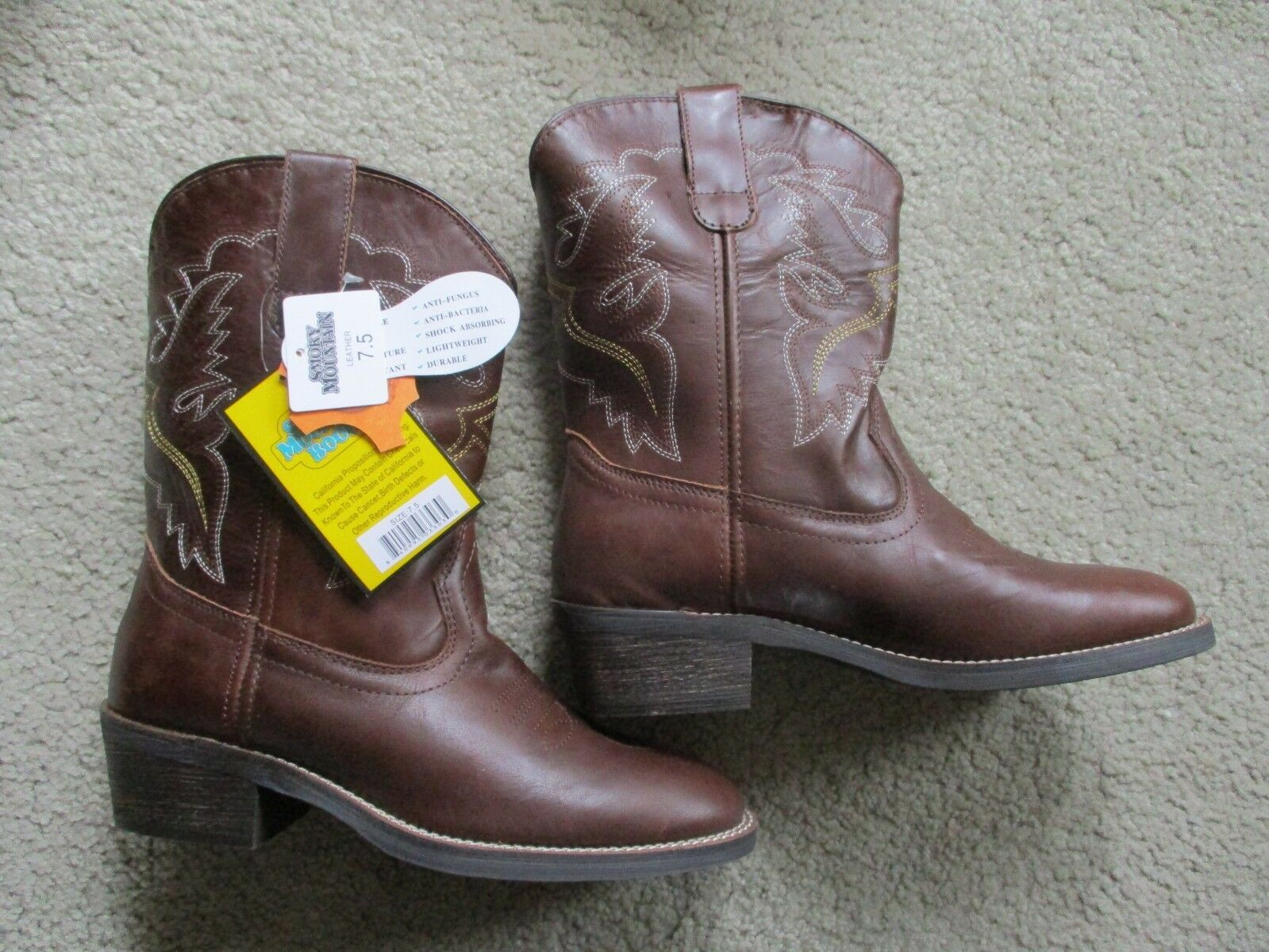 ladies Smoky Mountain leather western cowboy riding boots 7.5