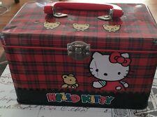 1991 Vintage HELLO KITTY Sanrio METAL BOX / LUNCHBOX Used RARE tin