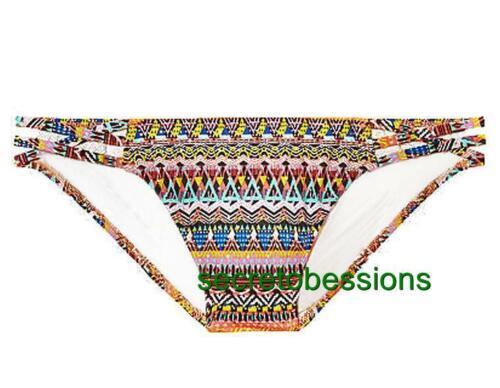 XS S or M Victoria/'s Secret Strappy Cheeky Bottoms Multi ZigZag Geo NIP