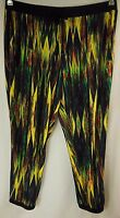 Rockmans Black Multi Soft Stretch Casual Pull-on Pants Size 20 M22