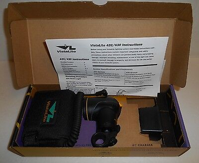 Vistalite VL420 Headlight System With Rechargeable Battery Pack New In Box