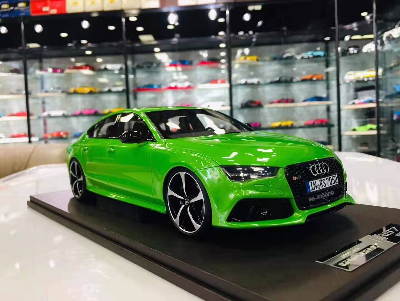 Motorhelix 1 18 Audi licensed RS7 Apple Grün Met. no BBR MR Makeup