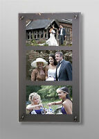 """CHESHIRE ACRYLIC PERSPEX 14X24"""" 10MM wall PHOTO FRAME 3x 8x6""""  all colours"""