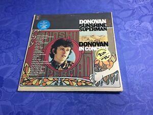 DONOVAN-2LP-VINYL-SUNSHINE-SUPERMAN-EPIC-LIVE-ALBUM-HOLLAND-FOLK-PSYCH-NM