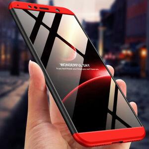 Pour-Huawei-Y7-Y6-2018-360-de-protection-complet-Hybride-Case-Verre-Trempe-Housse