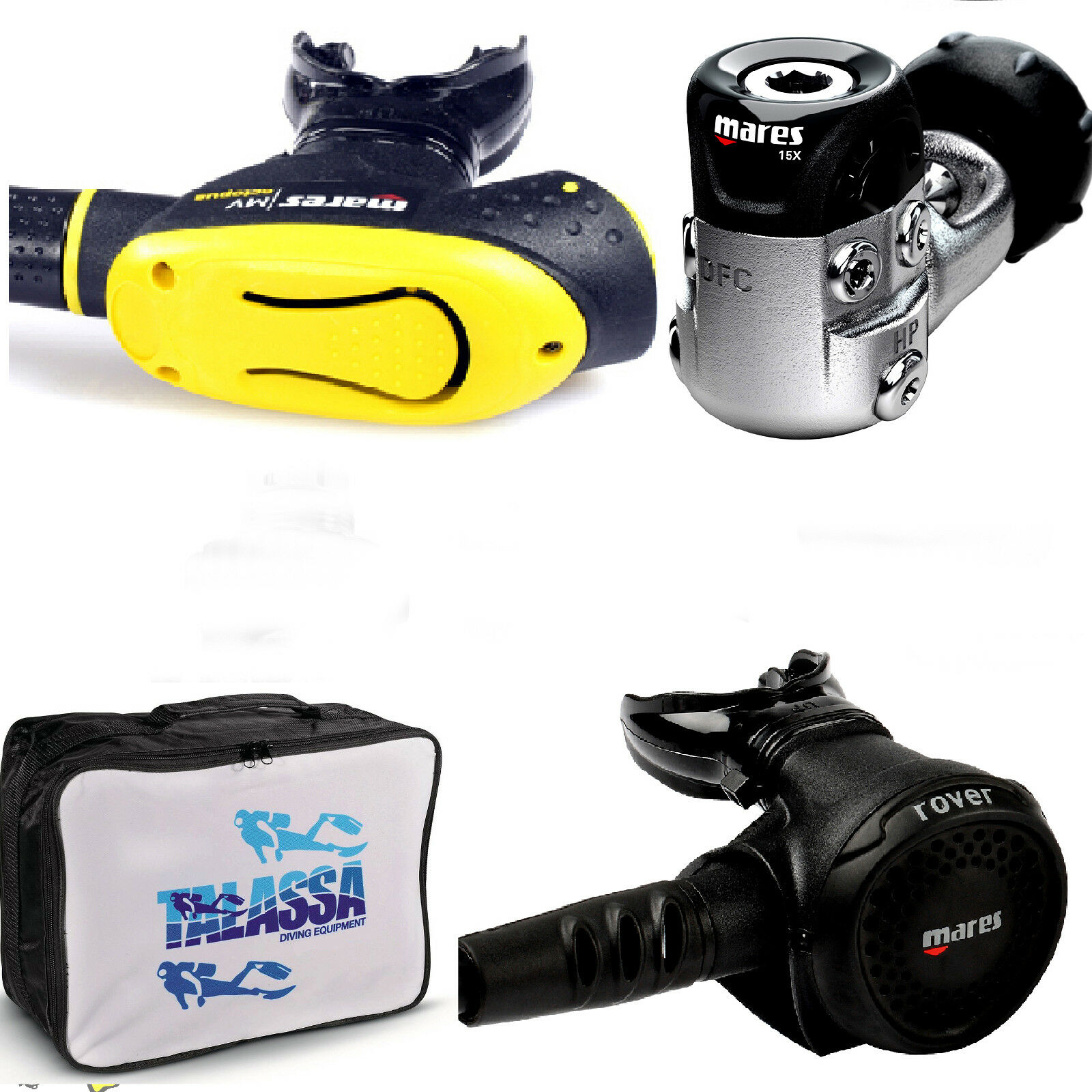 LO3 17 Mares regulator PRESTIGE 15x YOKE OCTOPUS MV AND REGULATOR BAG