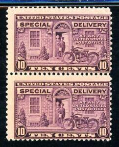 USAstamps-Unused-US-Special-Delivery-Perforation-Error-Pair-Scott-E15-OG-MNH